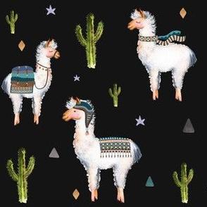 "6"" Boys Aztec Llama / Black"