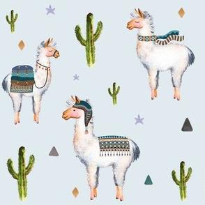 "8"" Boys Aztec Llama / Light Blue"