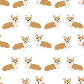 Corgi simple dog breed fabric corgis white
