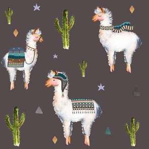 "8"" Boys Aztec Llama /Boho Brown"