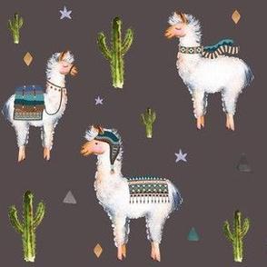 "6"" Boys Aztec Llama /  Boho Brown"