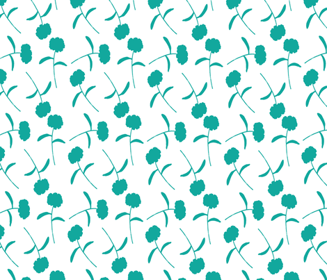 teal_ditsy_coordinate fabric by artgirlangi on Spoonflower - custom fabric