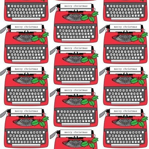 vintage christmas typewriters