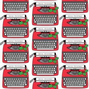 vintage christmas typewriters
