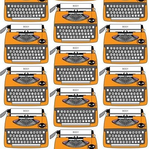 vintage halloween typewriters