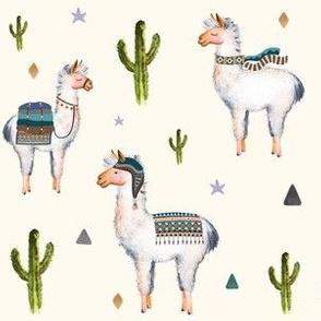 """6"""" Boys Aztec Llama / Ivory"""