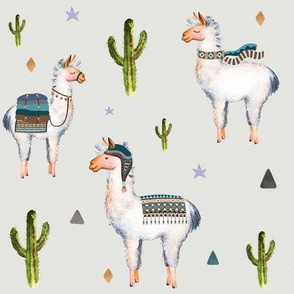 "8"" Boys Aztec Llama / Light Grey"