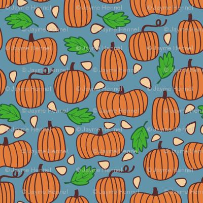 Pumpkin Patch - blue