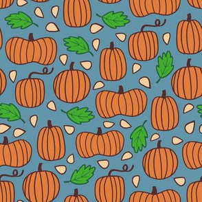 Pumpkin Patch - blue