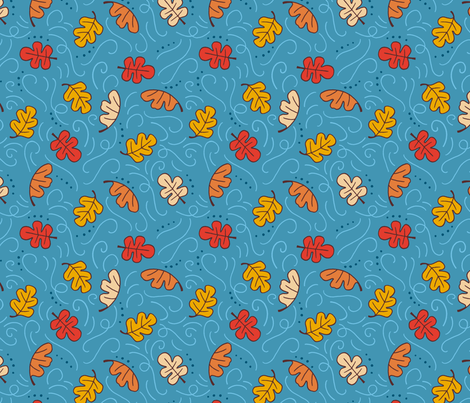 Blustery Day - blue fabric by jaymehennel on Spoonflower - custom fabric