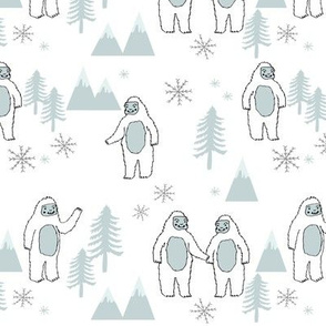 Yeti christmas winter snow fabric light by andrea lauren