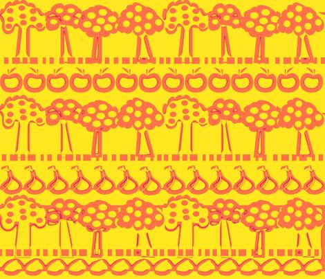 SWEDISH_TREES_YELLOW_-01 fabric by soobloo on Spoonflower - custom fabric