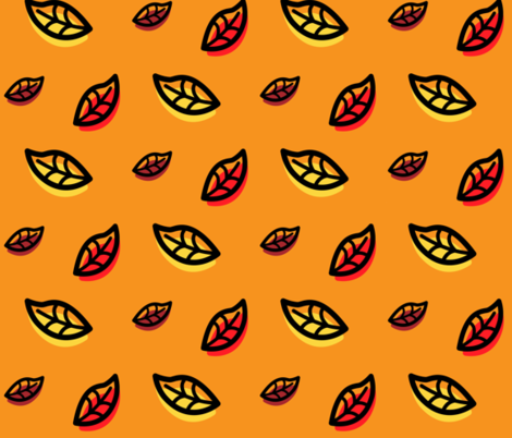 Leaf Puff fabric by catherineswan on Spoonflower - custom fabric