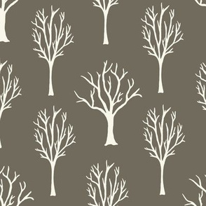 Winter Trees - Ivory, Clay