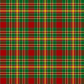 "Chattan tartan, 6"" red/green"