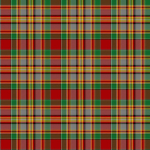 "Chattan tartan, 6"" red/green/grey"