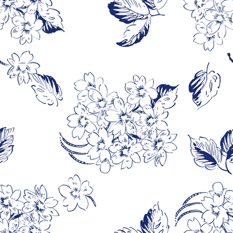 Lykke ink on white fabric by lilyoake on Spoonflower - custom fabric