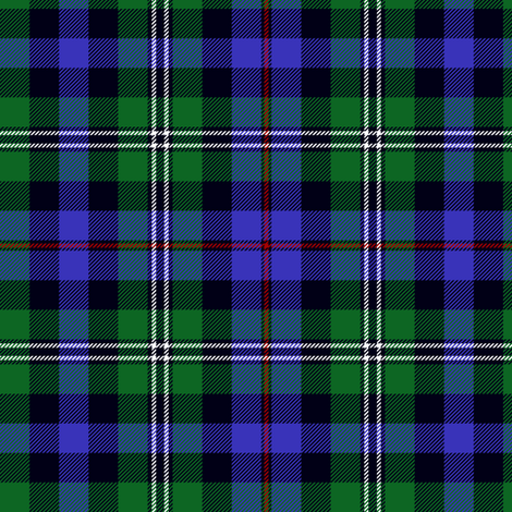 "Stephenson hunting tartan, 6"" red stripe fabric by weavingmajor on Spoonflower - custom fabric"