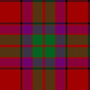 "Buccleuch tartan, 6"" red/green/purple"