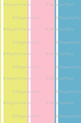 pastel stripe //  yellow / blue/ pink stripes