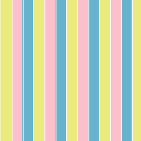 pastel stripe //  yellow / blue/ pink stripes fabric by magentarosedesigns on Spoonflower - custom fabric