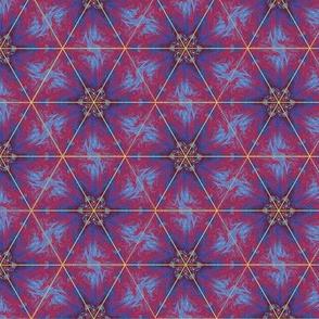 Elegant Kaleidoscope Red Upholstery Fabric