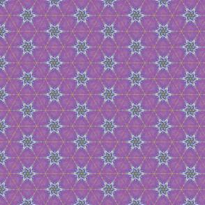 Stars Kaleidoscope Mauve Upholstery Fabric