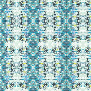 Baby Blue Bohemian Abstract Pattern
