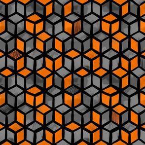 Textured Cubes (orange)