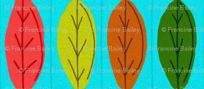 Un-Be-Leaf-able Rain Chain /on blue
