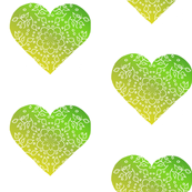 Hearts: Peridot Green