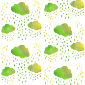 Rainy Clouds: Peridot Green
