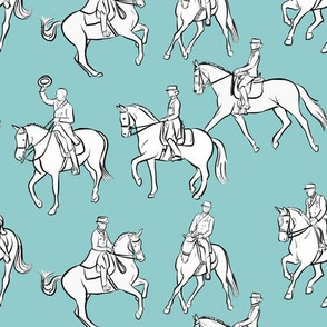 Dressage on Light Blue