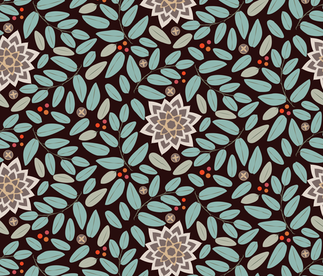 Rustic Hedge dark fabric by colour_angel_by_kv on Spoonflower - custom fabric