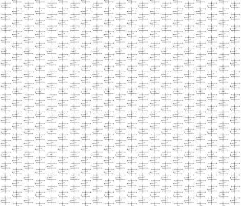 Mid Century Black and White Cross fabric by barbarapritchard on Spoonflower - custom fabric