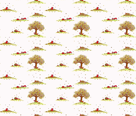 Fox Folly fabric by mejo on Spoonflower - custom fabric