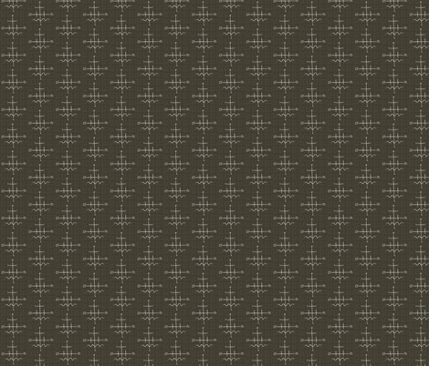 Mid Century Western Brown Grid fabric by barbarapritchard on Spoonflower - custom fabric
