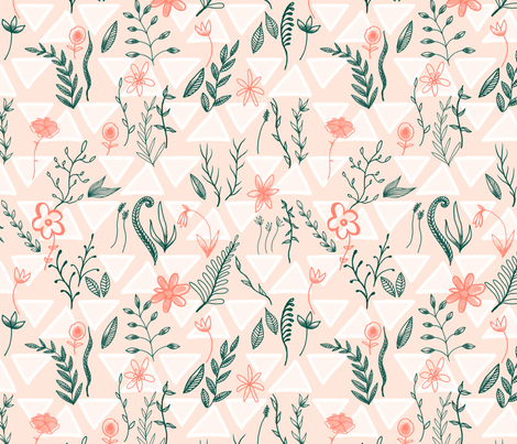 Flowers and Foliage 4 LARGE fabric by digitallove on Spoonflower - custom fabric
