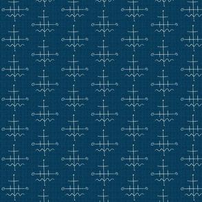 Mid Century Western Turquoise Grid
