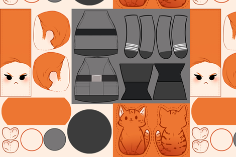 Armie and Mille Plush DIY fabric by elviscl on Spoonflower - custom fabric