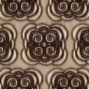 Bohemian Swirls Sepia