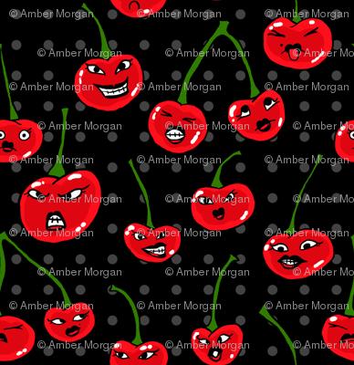 Rotten Cherries Wallpaper Ambermorgan Spoonflower