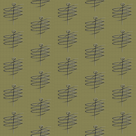 Mid Century Man olive green grid fabric by barbarapritchard on Spoonflower - custom fabric