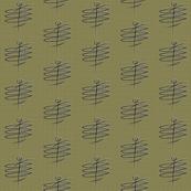 Mid Century Man olive green grid