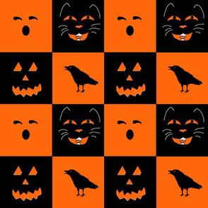 Retro Halloween Faces