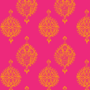 TURKISH TILE IN HOT PINK AND ORANGE