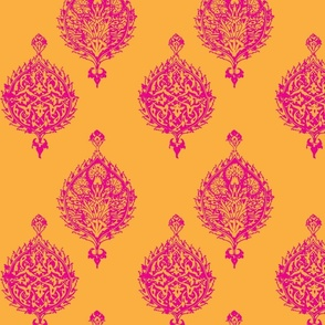HAREM TILE TURKEY ORANGE AND HOT PINK