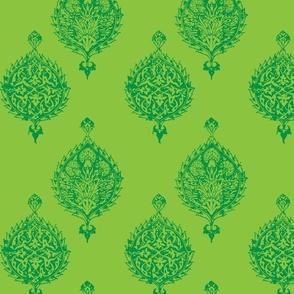 TURKISH HAREM TILE IN GREEN