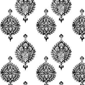 TURKISH HAREM TILE IN BLACK AND WHITE