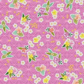 Kihapai* (Pink Liza) || flowers flower floral garden plumeria hibiscus tropical Polynesian Hawaii Hawaiian leaves nature tribal geometric diamonds